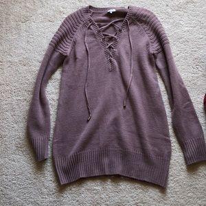 Mauve Tobi Sweater Dress